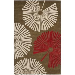 Safavieh Handmade Soho Fans Brown New Zealand Wool Rug