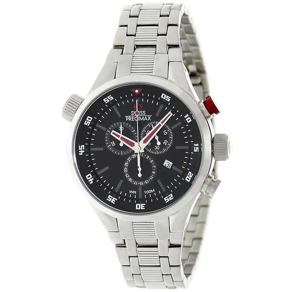 Swiss Precimax Men's Torin Pro SP12118 Red Hands Swiss Chronograph Watch