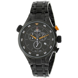 Swiss Precimax Men's Torin Pro Black with Orange Hands Swiss Chronograph Watch