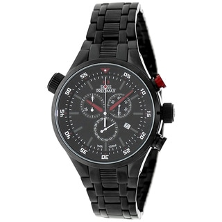 Swiss Precimax Men's Torin Pro Black with Red Hands Swiss Chronograph Watch
