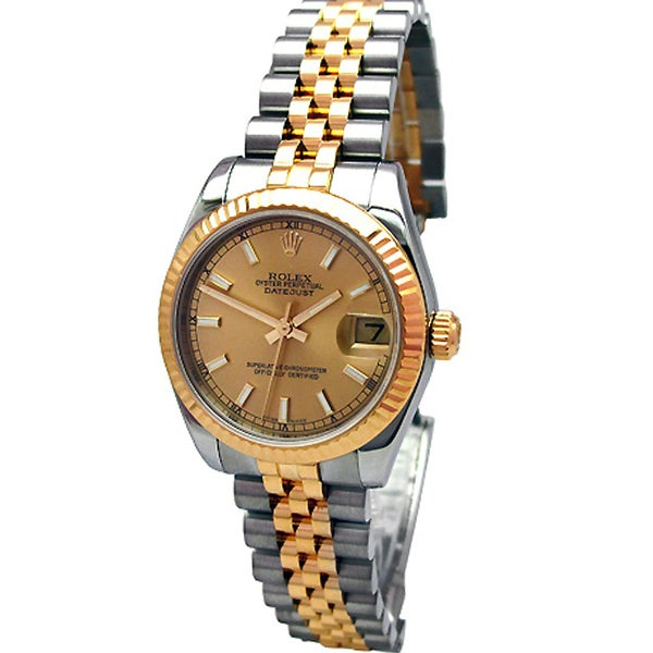 Pre-Owned Rolex Midsize 18k Yellow Gold and Stainless Steel Datejust Watch
