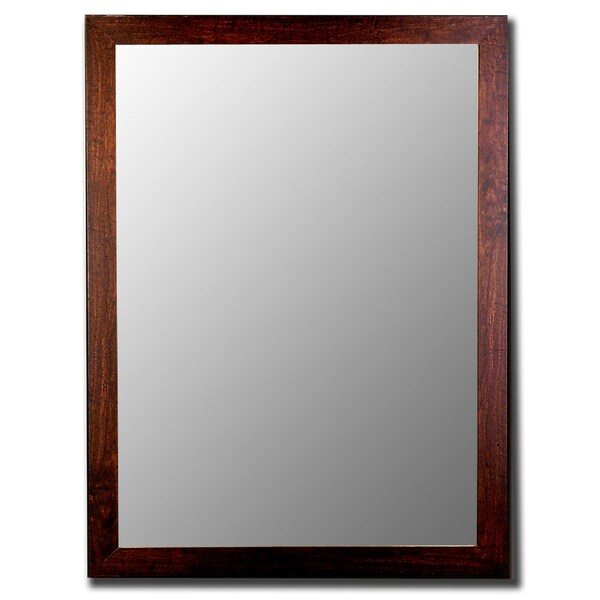 Distressed Walnut Mirror