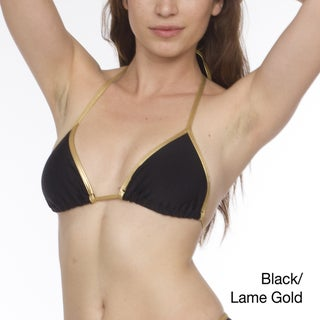 American Apparel Nylon Tricot Contrasting Triangle Bikini Top