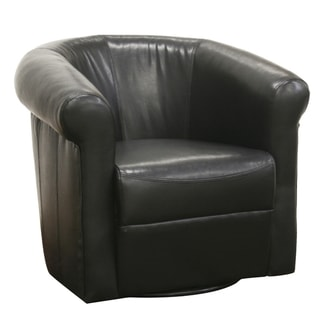 Baxton Studio 'Julian' Black Faux Leather Club Chair
