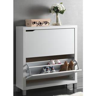Baxton Studio 'Marsha' Modern Double Shoe Cabinet