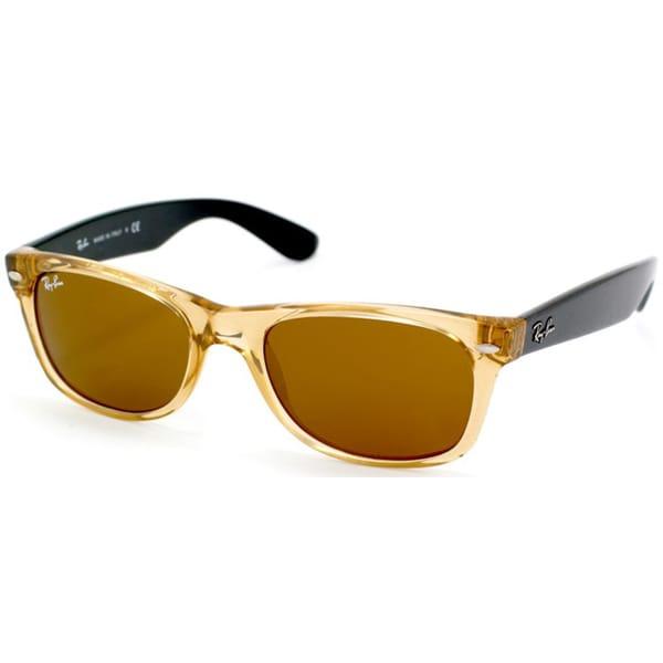 Ray-Ban Unisex Honey and Black Wayfarer Sunglasses