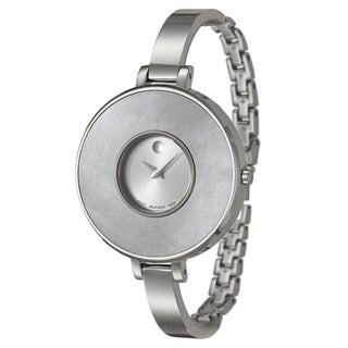 Movado Women's 'Brila' Stainless Steel and White Mother of Pearl Swiss Quartz Watch