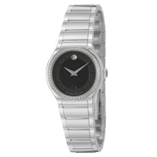 Movado Women's 'Quadro' Silvertone Stainless-Steel Swiss Quartz Watch