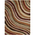 Ragusa Multi Colored Wavy Stripe Shag Rug (3' x 5')