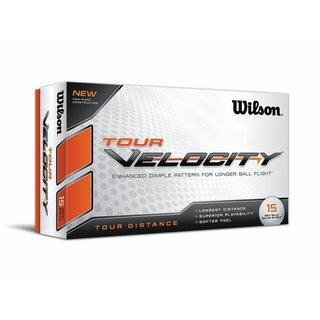 Tour Velocity White Golf Balls (Pack of 15)