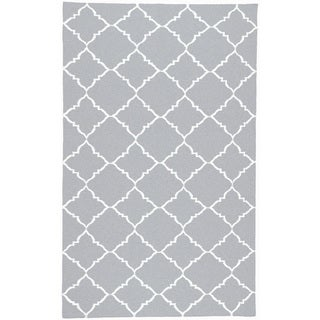 Handwoven Altamura Dove Gray Wool Rug (8' x 11')