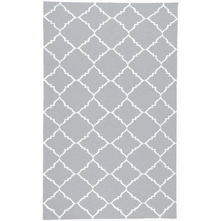 Handwoven Altamura Dove Gray Wool Rug (8' x 11')