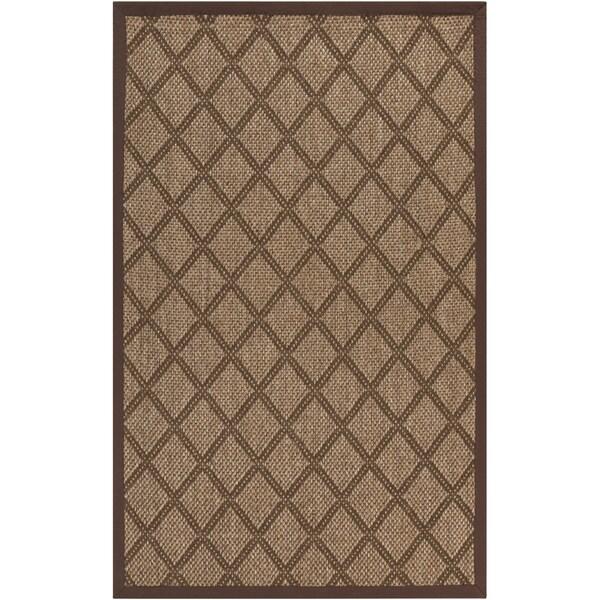 Woven Golden Brown Maxima Sisal Natural Fiber Rug (2' x 3')