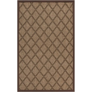 Woven Golden Brown Maxima Sisal Natural Fiber Rug (5' x 8')