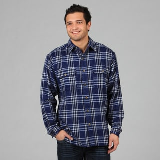 Farmall IH Men's 'Brawny' Navy Flannel Snap-button Shirt