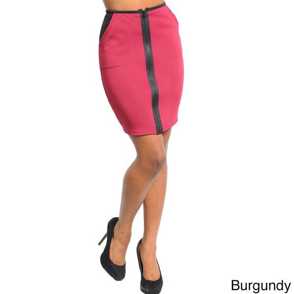 Stanzino Women's Zippered Front Mini Skirt