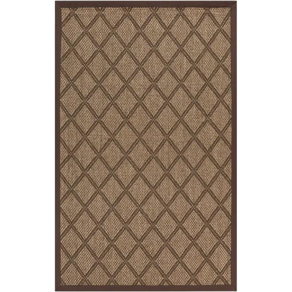 Meticulously Woven Golden Brown Maxima Sisal Natural Fiber Rug (9' x 13')
