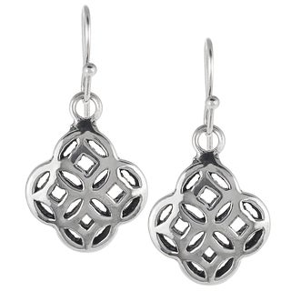 Tressa Sterling Silver Celtic Unity Knot Dangle Earrings