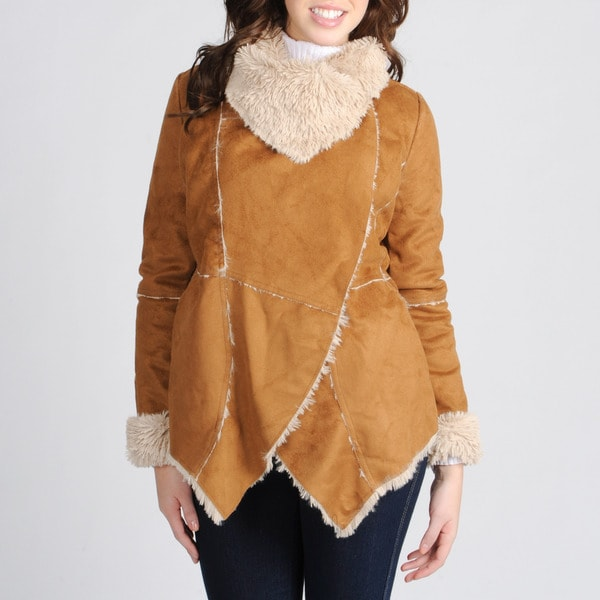 Mo-Ka Women's Chestnut Faux Shearling Jacket