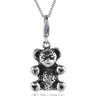 Tressa Sterling Silver Teddy Bear Necklace