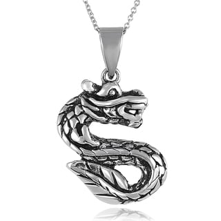 Tressa Sterling Silver Dragon Necklace
