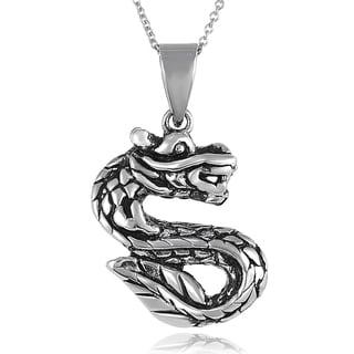 Tressa Sterling Silver Dragon Necklace