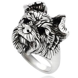 Tressa Sterling Silver Dog Face Ring