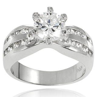 New! Tressa Sterling Silver Cubic Zirconia Bridal and Engagement Style Ring