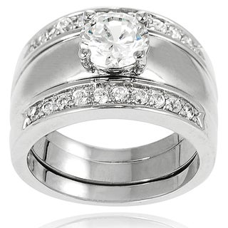 New! Tressa Sterling Silver Cubic Zirconia Bridal Engagement Style Rings