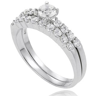 New! Tressa Sterling Silver Cubic Zirconia Bridal- Style  Rings