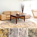 Hand-tufted Putty Wrigley Wool Rug (4' Round)