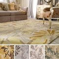 Hand-tufted Putty Wrigley Wool Rug (6' x 9')