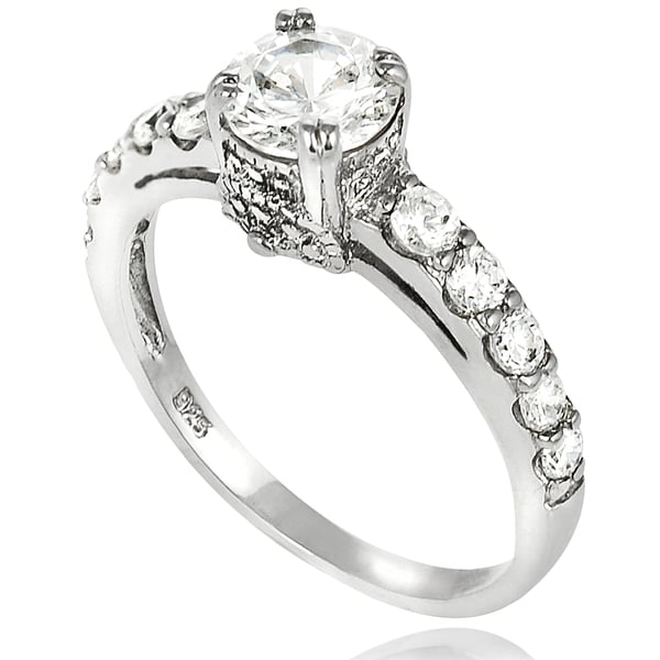 Journee Collection New! Sterling-Silver Round Cubic Zirconia Bridal- and Engagement-Style Ring