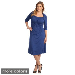 Kiyonna Women's Plus Size 'Stella' Draped Dress
