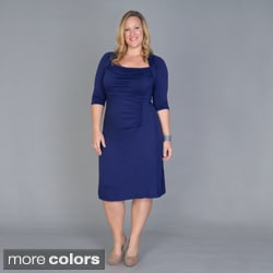 Women's Plus Size 'Stella' Draped Dress