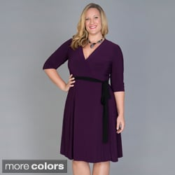 Kiyonna Women's Plus Size 'Legacy' Wrap Dress