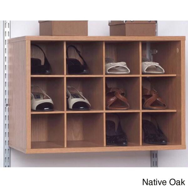 Talon 12-compartment Native Oak Organizer