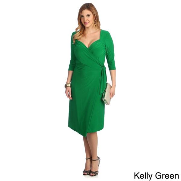 Kiyonna Women's Plus Size Sweetheart Wrap Dress