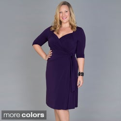 Kiyonna Women's Plus Size Sweetheart Wrap Dress