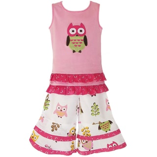 AnnLoren Adorable Girls Boutique Owl Outfit