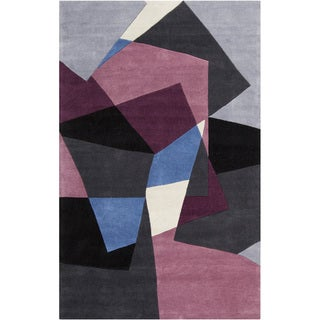 Hand-tufted Arlon Grey Geometric Rug (9' x 13')