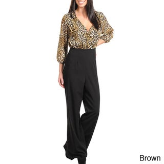 Stanzino Women's High Waisted Two Tone Jumpsuit
