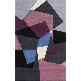 Hand-tufted Arlon Grey Geometric Rug (8' x 11')