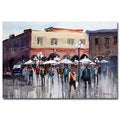 Ryan Radke 'Italian Marketplace' Canvas Art