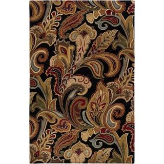 Hand-tufted Rampage Mocha Wool Rug (9' x 13')