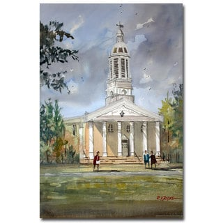 Ryan Radke 'Lawrence Memorial Chapel' Canvas Art
