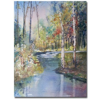 Ryan Radke 'Hartman Creek Birches' Canvas Art