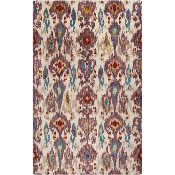 Hand-tufted Sigma Rosewood Ikat Wool Rug (8' x 11')