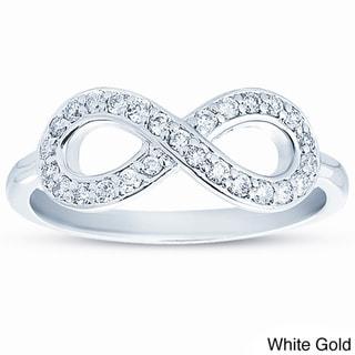 10k Gold 1/4ct TDW Diamond Infinity Ring (H-I, I1-I2)