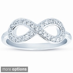 10k Gold 1/4ct TDW Diamond Infinity Ring (H-I, I1-I2)